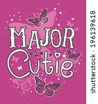 major cutie | Shutterstock .eps vector #196139618