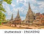 wat phra si sanphet in... | Shutterstock . vector #196143542