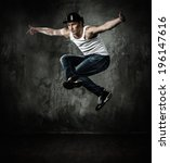 man dancer showing break... | Shutterstock . vector #196147616