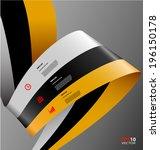 stylized info graphics... | Shutterstock .eps vector #196150178