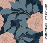 beautiful seamless pattern with ... | Shutterstock . vector #1961542885