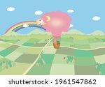 A Sheep Shaped Hot Air Balloon...