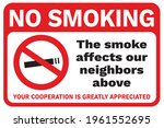 no smoking sign or poster.... | Shutterstock .eps vector #1961552695