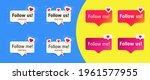 set of buttons. follow me....   Shutterstock .eps vector #1961577955