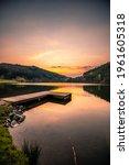 Sunset At The Lake  A Beautiful ...