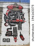 new york   june 1  mural at... | Shutterstock . vector #196163375