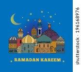 ramadan kareem greetings... | Shutterstock .eps vector #196168976