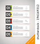colorful long stickers with... | Shutterstock .eps vector #196169312