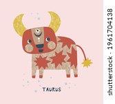 taurus zodiac character nursery ...   Shutterstock .eps vector #1961704138