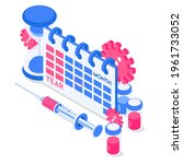time to vaccinate. syringe ...   Shutterstock .eps vector #1961733052