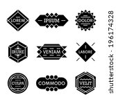 minimal monochrome geometric... | Shutterstock .eps vector #196174328