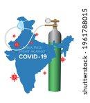 coronavirus fight poster. india ... | Shutterstock .eps vector #1961788015
