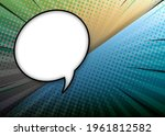pop art comic background with...   Shutterstock . vector #1961812582