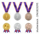 gold silver and bronze champion ... | Shutterstock .eps vector #1961823295