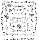 collection of wedding design | Shutterstock .eps vector #196186532