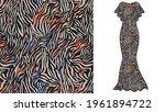 abstract animal skin tiger... | Shutterstock .eps vector #1961894722