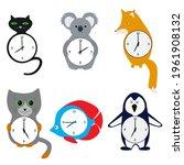 Set Of Wall Clocks For Children....