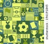 vector seamless soccer symbols... | Shutterstock .eps vector #196191845