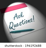 ask questions  on notebook... | Shutterstock . vector #196192688