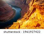 Arizona Horseshoe Bend of Colorado River in Grand Canyon. Beautiful view on Horseshoe place in Arizona.