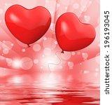 heart balloons displaying...   Shutterstock . vector #196193045
