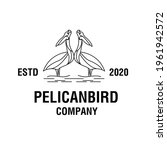 Modern Heron Logo Silhouette...