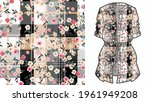 elegant floral pattern in small ... | Shutterstock .eps vector #1961949208