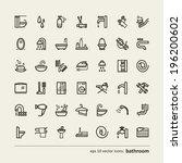 Set Of Icons   Bathroom. A...