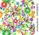 seamless floral colorful... | Shutterstock .eps vector #196200812