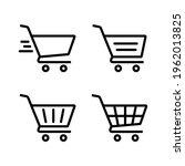 shopping cart icon vector....   Shutterstock .eps vector #1962013825