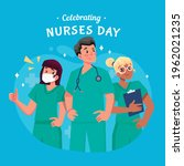 celebrating nurses day with... | Shutterstock .eps vector #1962021235
