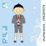 boy first communion invitation... | Shutterstock .eps vector #196204376
