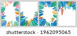 set of design templates with...   Shutterstock .eps vector #1962095065