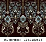 indian seamless ornament... | Shutterstock . vector #1962100615