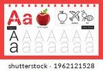 educational alphabet a tracing...