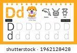 educational alphabet d tracing...