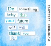 quote anonymous letter style ... | Shutterstock . vector #196213988