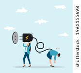 recharge energy to exhausted... | Shutterstock .eps vector #1962155698