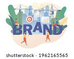 brand. tiny people working on... | Shutterstock .eps vector #1962165565