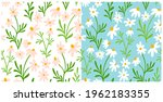 chamomile and daisy seamless...   Shutterstock .eps vector #1962183355