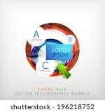 circle web design bubble with...
