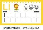 educational alphabet l tracing...