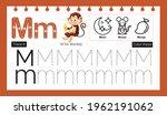 educational alphabet m tracing...