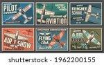 aviation retro airplanes vector ... | Shutterstock .eps vector #1962200155