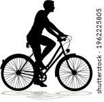A Bicycle Riding Bike Cyclist...