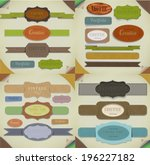 set of retro ribbons   vintage... | Shutterstock . vector #196227182