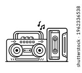 radio and tape vintage coloring ...