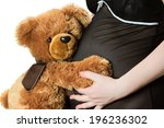 Teddy Bear And Belly Isolated...