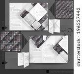 business brochure template...   Shutterstock .eps vector #196237442