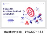 landing page template with...   Shutterstock .eps vector #1962374455